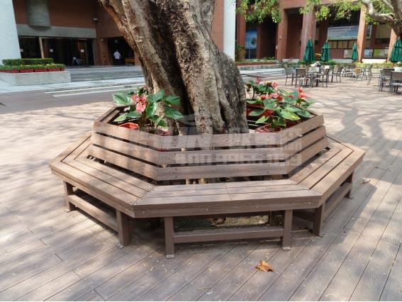 纳米碳化木树池座椅